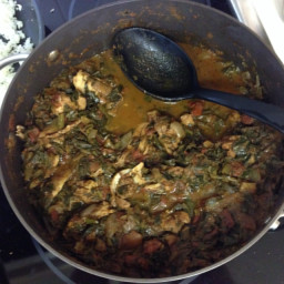 Chicken Curry with Greens