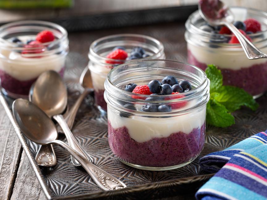 "Forest Berry and ""Yogurt"" Parfait"