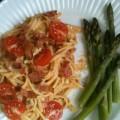 Bacon, Linguini and Tomato Toss