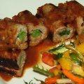 Beef and Scallion Rolls (Nege Maki)