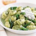 Creamy Pesto Gnocchi with Green Beans and Ricotta