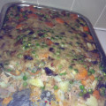 Creamy tuna potato carrot pea casserole