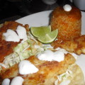 Fish Tacos with Citrus Salsa And Cabbage Slaw