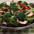 Garden Salad with Red wine dressing
