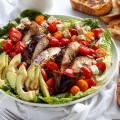 Grilled Balsamic Chicken & Avocado Bruschetta Salad