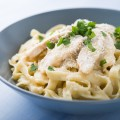 Grilled Chicken Fettuccine Alfredo