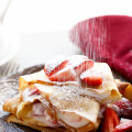 Macerated Strawberries and Cream Crepes