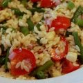 Salad: Orzo with Corn, Green Beans, Tomatoes