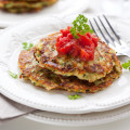 Potato Latkes with Cranberry Jam