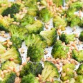 Roasted Broccoli with Lemon Garlic Butter & Toasted Pine Nuts