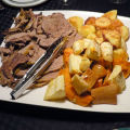 Slowcooker Rolled Roast Beef with Yorkshire Pudding