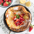 Sarahs Strawberry, Banana & Chocolate Puffy Pancake