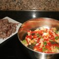 Shredded Flank Steak with Peppers, (Ropa Vieja)