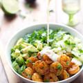 Shrimp & Avocado Salad with Miso Dressing