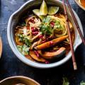 Thai Pomegranate Chicken Noodle Soup