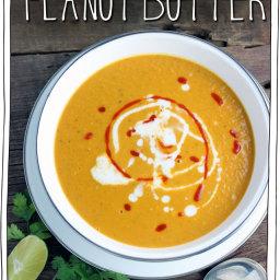 10 Minute Thai Peanut Butter and Pumpkin Soup