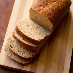 100% whole wheat bread - atta bread - makes 1 loaf