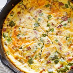140 Calorie Cheesy Sausage Quiche