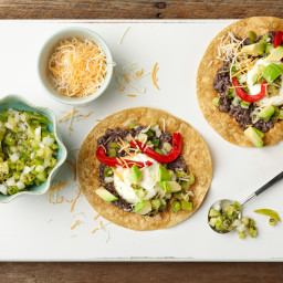 15-Minute Bean, Egg and Avocado Tostadas