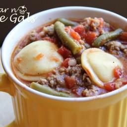 15 minute Ravioli Soup