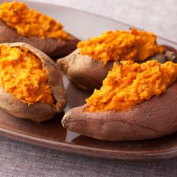 2 times Baked Sweet Potatoes