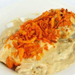 3 Ingredient Cheddar Cream of Mushroom Chicken