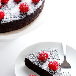 3-Ingredient Flourless Chocolate Cake