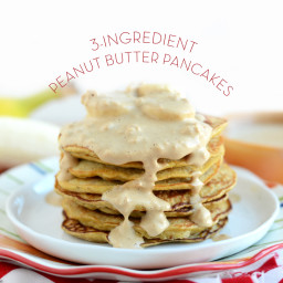3-Ingredient Peanut Butter Pancakes