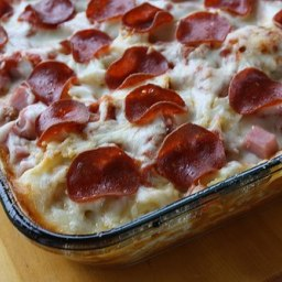 3-Meat Pizza Casserole
