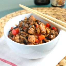 30 Minute Chicken Mushroom Pepper Stir Fry