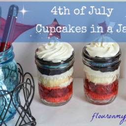 4th of July Berrylicious Cupcakes in a Jar