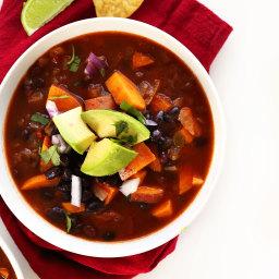 5 Ingredient Sweet Potato Black Bean Chili