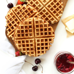 7 Ingredient Vegan Gluten Free Waffles