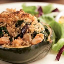 Acorn Squash Stuffed with Chard and White Beans