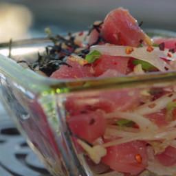 Ahi Poke and Seaweed Salad