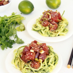 Ahi Tuna Poke Bowls with Avocado and Cucumber Noodles