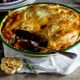 Alida Ryder's slow-cooked lamb, rosemary and roasted garlic pie