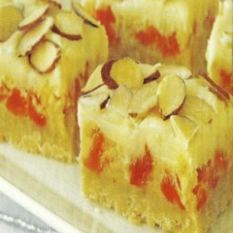 Almond, Apricot and White Chocolate Decadence Bars