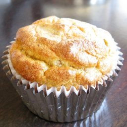 Almond Bread Breakfast Muffin with Pine Nuts