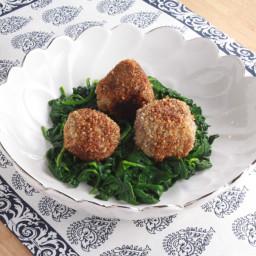 Almond Panko Crusted Lamb Meatballs