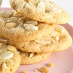 Almond White Chocolate Chunk Cookies