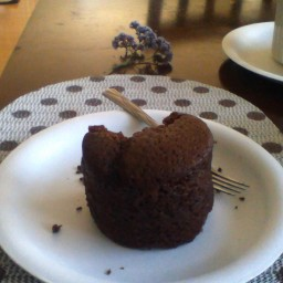 Almost Instant Krusteaz Choco-nut Cake for Two