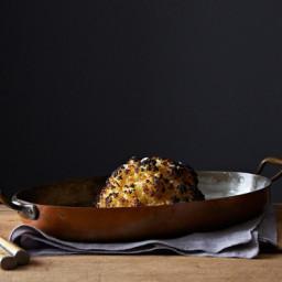 Alon Shayas Whole Roasted Cauliflower and Whipped Goat Cheese