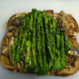 Alton Brown's Sardine-Avocado Sandwiches