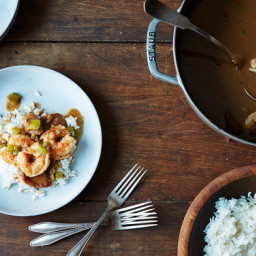 Alton Browns Shrimp Gumbo