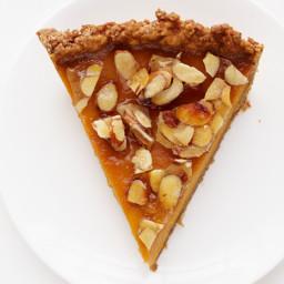 Amaretto Pumpkin Pie With Almond Praline