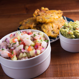 Ancestral Table's Shrimp Ceviche with Tostones Recipe