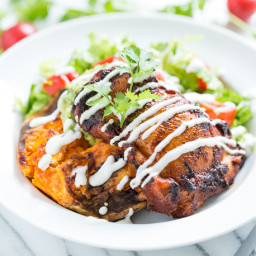 Ancho Chile Chicken Taco Bowls