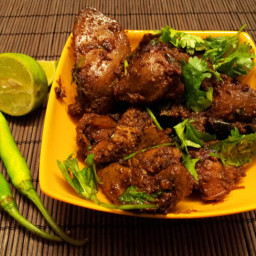 Andhra chicken liver fry