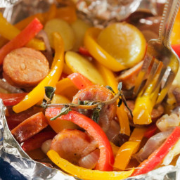 Andouille Sausage and Pepper Pouch